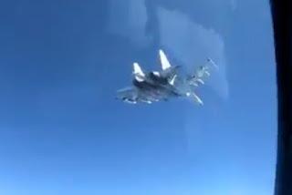 Pencegatan Poseidon P-8A oleh Jet Tempur Su-35