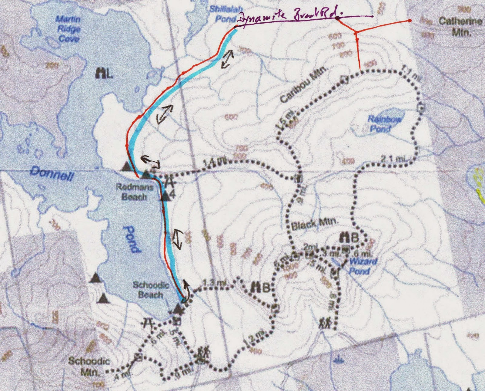 Donnell Pond Maine Map | Zip Code Map