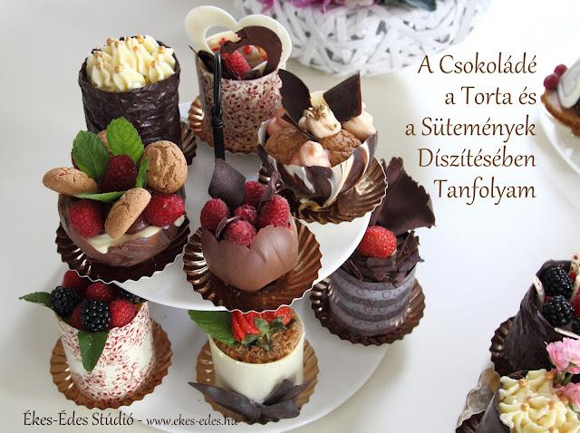 csokoládé díszek tortára
