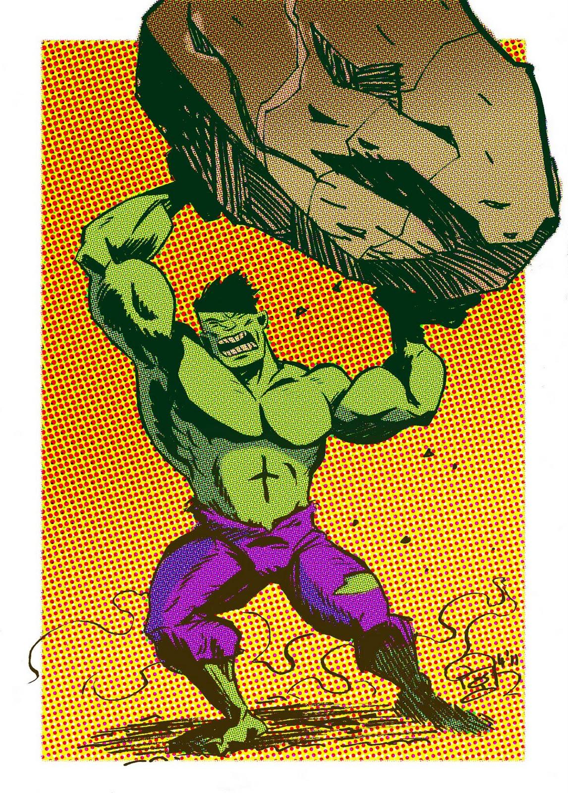 angry hulk throwing rocks - photo #3
