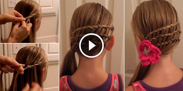 Learn - How To Create Triple Waterfall Twist Hairstyle, See Tutorial
