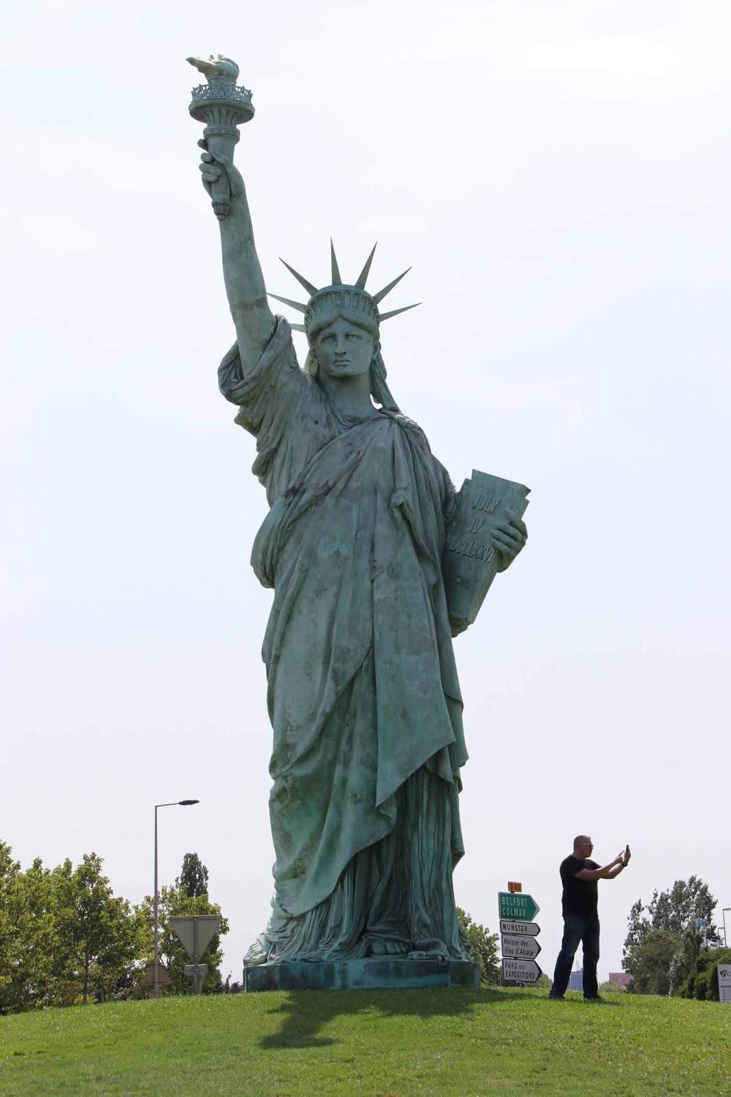 Vapaudenpatsas Colmar France Statue Of Liberty Ranska