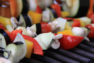 Groentespiesjes op de grill