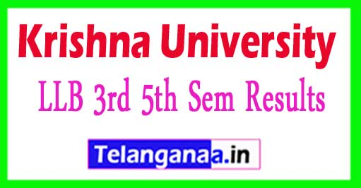 KRU LLB 3rd 5th Sem Results 2018