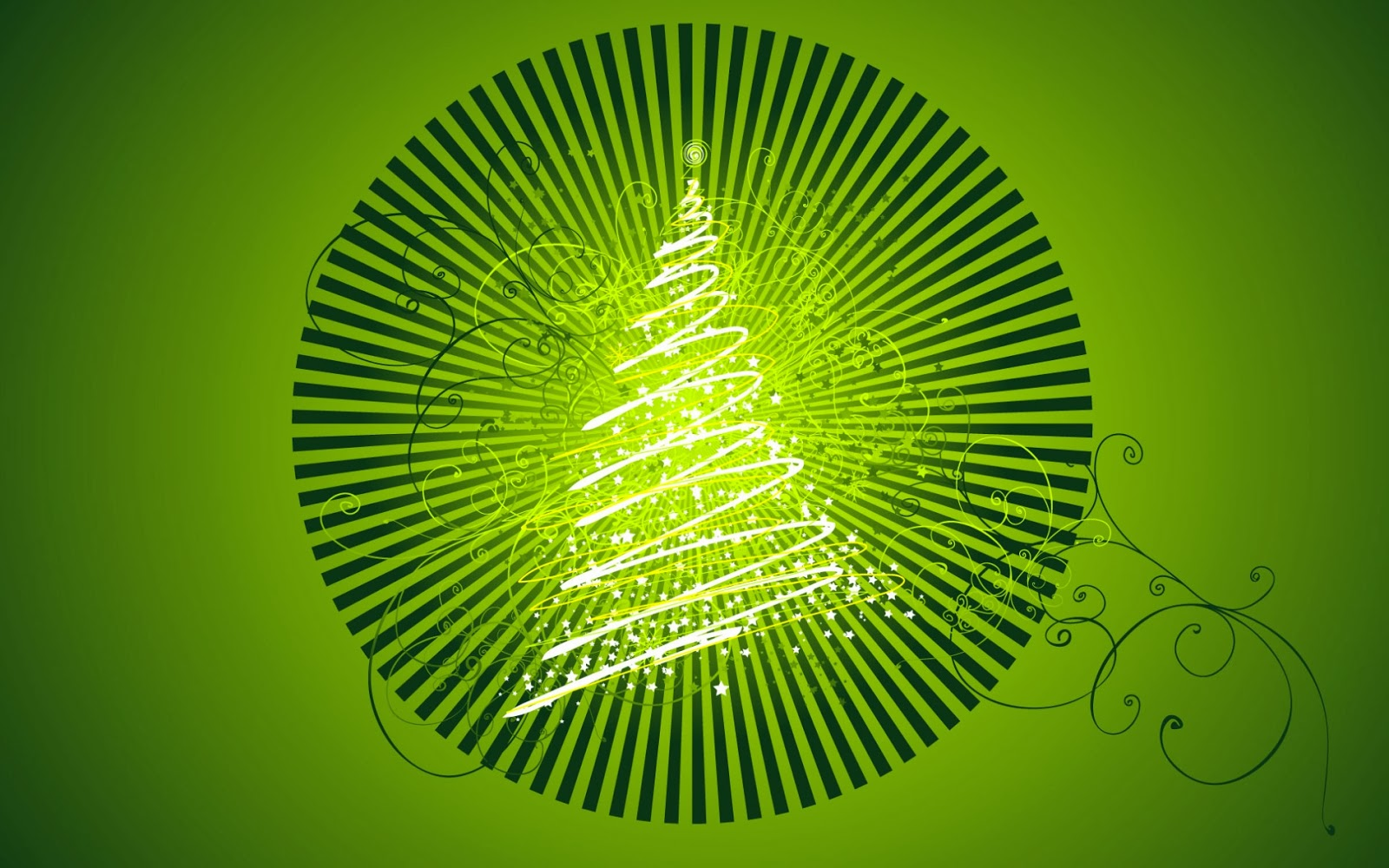 Happy Merry Christmas 2014 Green Tree Wallpaper