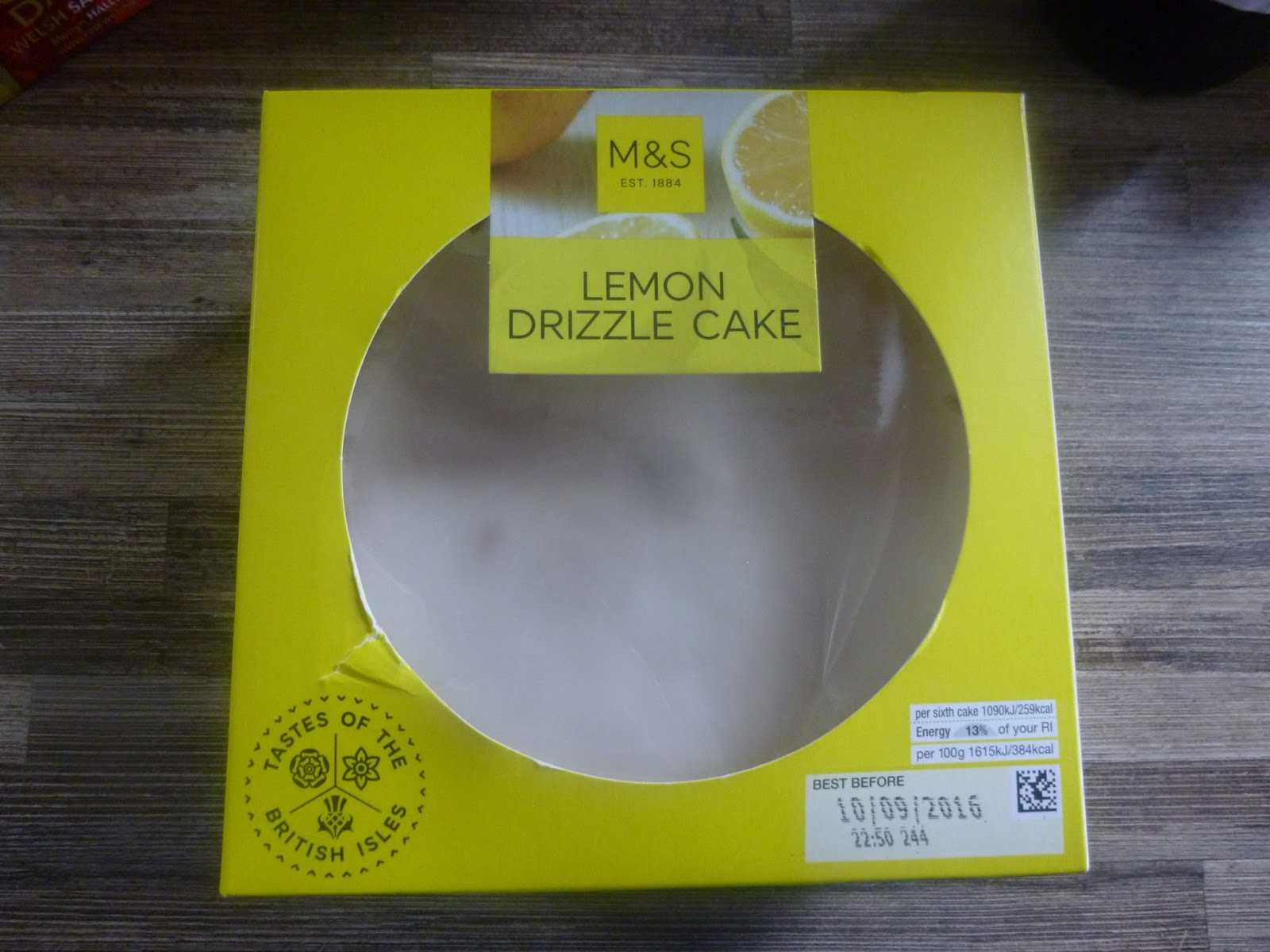 Marks And Spencer Lemon Drizzle Cake Calories