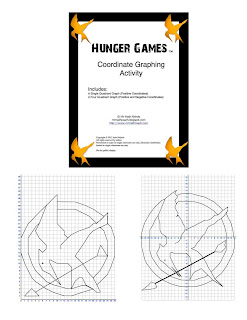 Hunger Games Coordinate Graph One Quadrant and Four