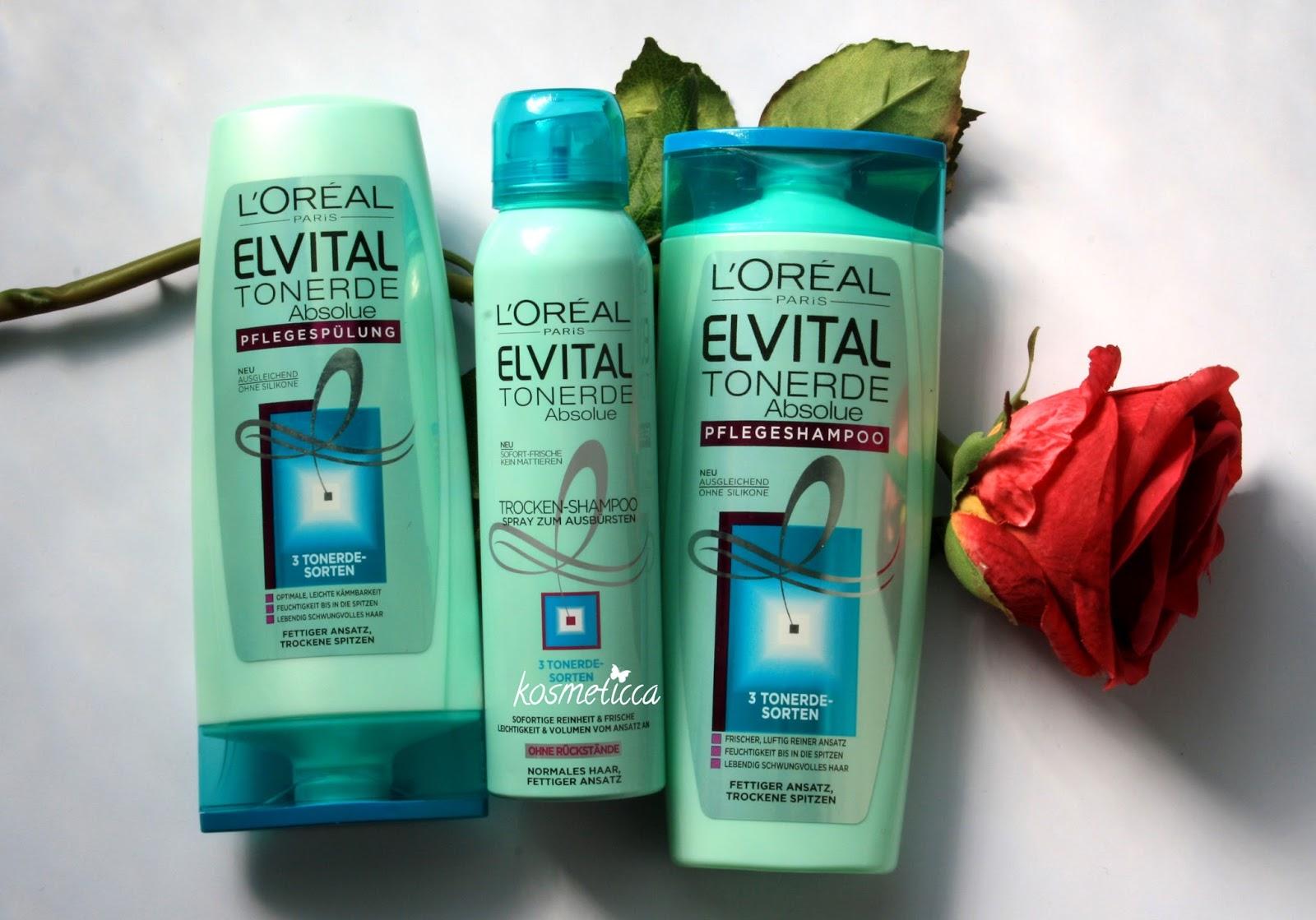 Kosmeticca Elvital Tonerde Shampoo Spülung Trockenshampoo