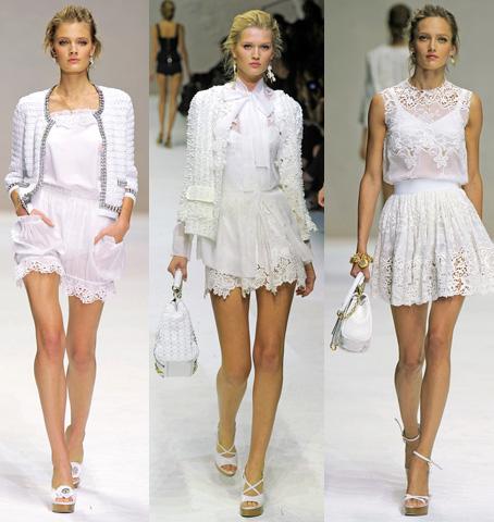 Outfits con vestido blanco de encaje