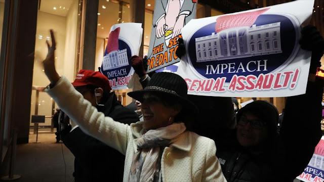 Mayoría de estadounidenses cree que Trump cometió abusos sexuales