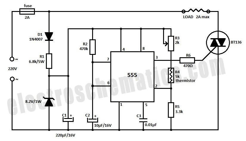 temperature controller circuit schematic
