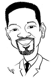 Will Smith Caricature Sketch by Ian Davy Brown