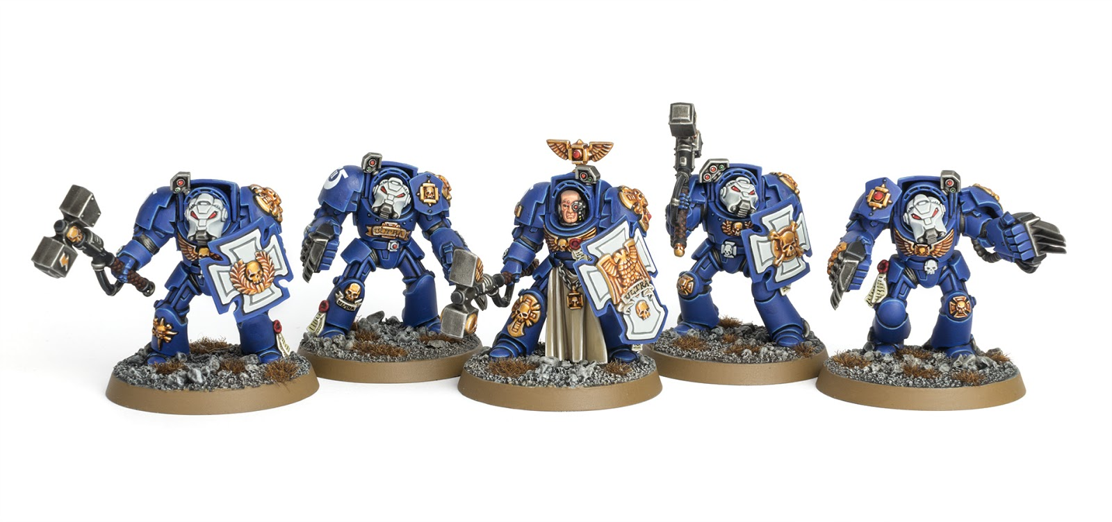 aa3be3450f Showcase  Ultramarines Close Combat Terminators - Tale of Painters