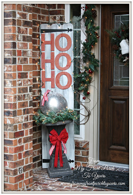 Christmas-DIY-Urn Filler-DIY-Christmas-Fence Board Sign-From My Front Porch To Yours