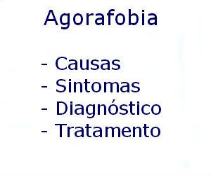 Agorafobia causas sintomas diagnóstico tratamento prevenção riscos complicações