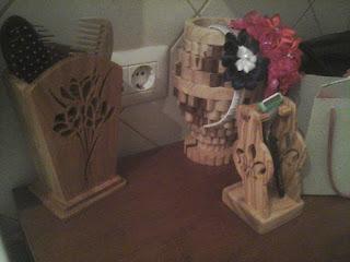 oggetti da bagno in legno porta rasoio realizzati in legno di ulivo con seghetto da traforo elettrico