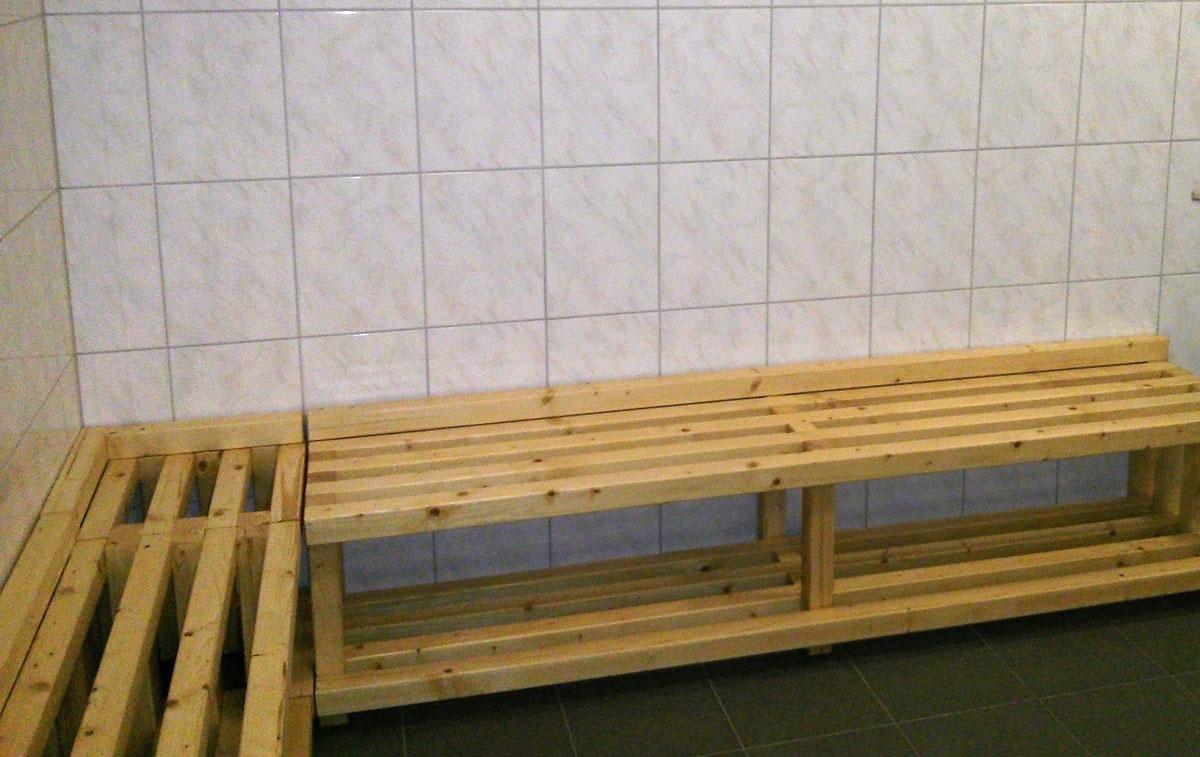 holzbohrer sitzbank f r umkleide teil3. Black Bedroom Furniture Sets. Home Design Ideas