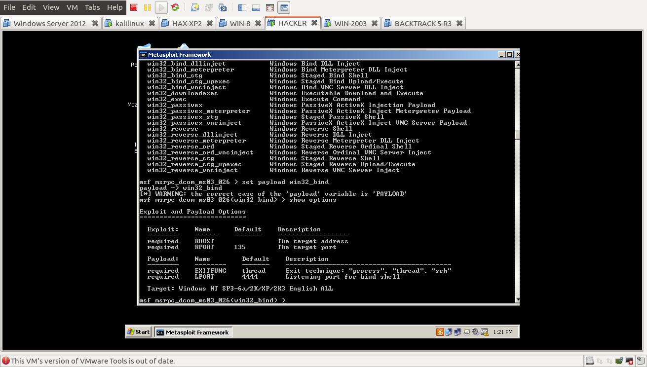 Ethical Hacking: metasploit (hacking windows 2003 with firewall)