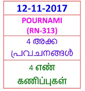 12 NOV 2017 pournami (RN-313)  4  NOS PREDICTIONS