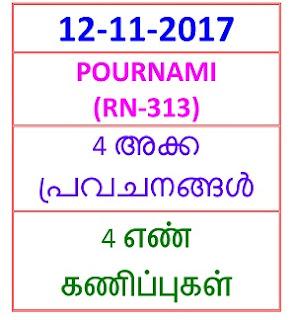 12 NOV 2017 pournami (RN-313)  4  NOS PREDICTIONS