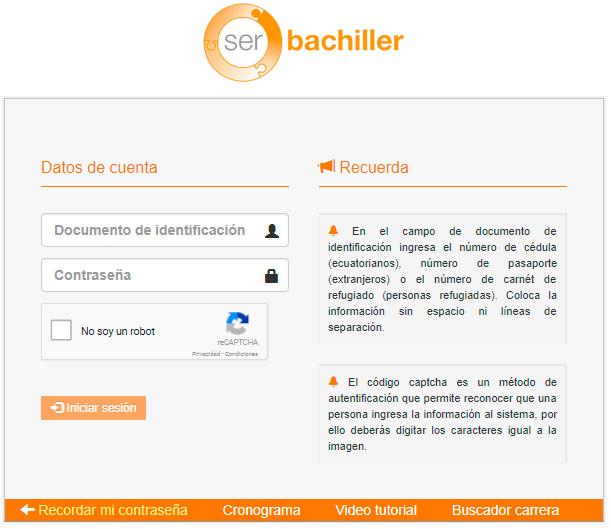 Ser Bachiller 2018 Inscripciones