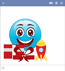 Facebook emoji with gifts