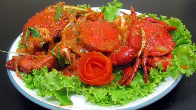 Masakan Kepiting Saus Padang