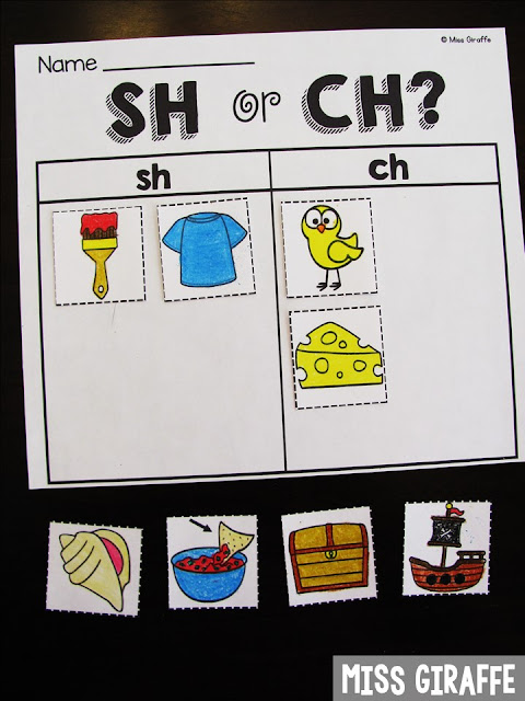 SH or CH sort and other fun digraphs teaching ideas