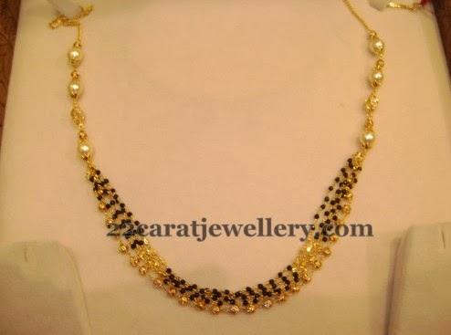 Below 15gms Black Beads Sets Gallery Jewellery Designs