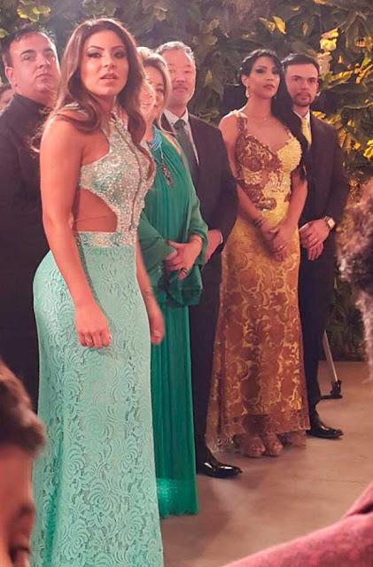 Gretchen casamento com Carlos, vestidos convidadas