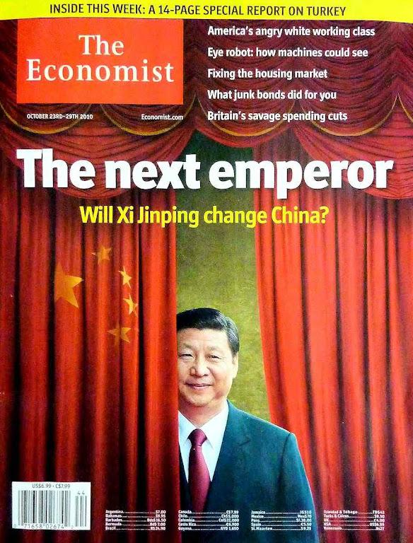 Xi Jinping 'o próximo imperador(The Economist, outubro 2017).  Entre as nomenklaturas comunistas e o alto capitalismo há curiosas consonâncias