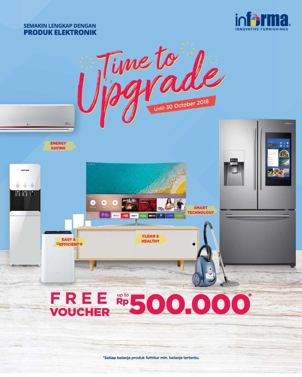 Informa - Promo Free Voucher s.d 500 Ribu Pembelian Produk Furniture (s.d 30 Okt 2018)