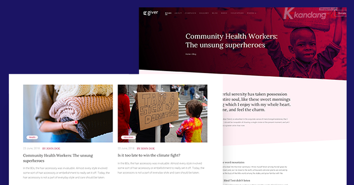 Giver - Donation & Non-profit Charity Joomla Template