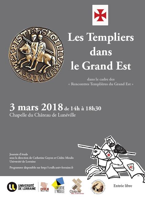 LUNEVILLE (54) - Journée d'étude : Les Templiers dans le Grand Est (3 mars 2018)