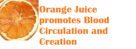 Health benefits Orange Juice promotes Blood Circulation and Creation