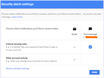 Security Alerts Gmail