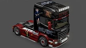 AC/DC skin for Scania R - mod by wilboy51