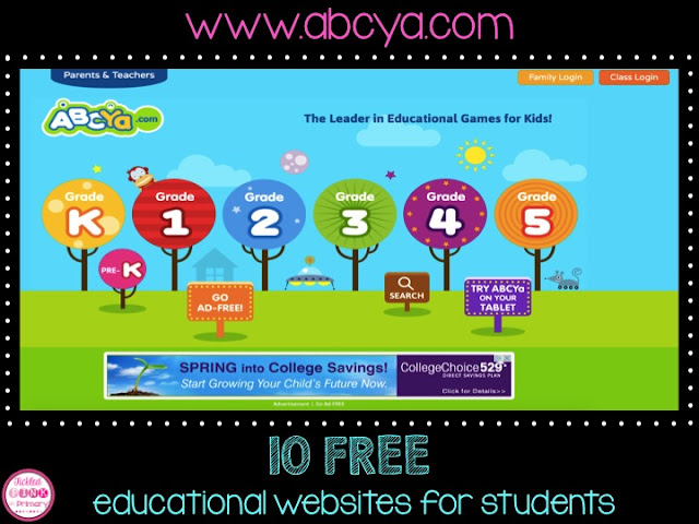 FREE Educational Websites for Students - ABCY Site