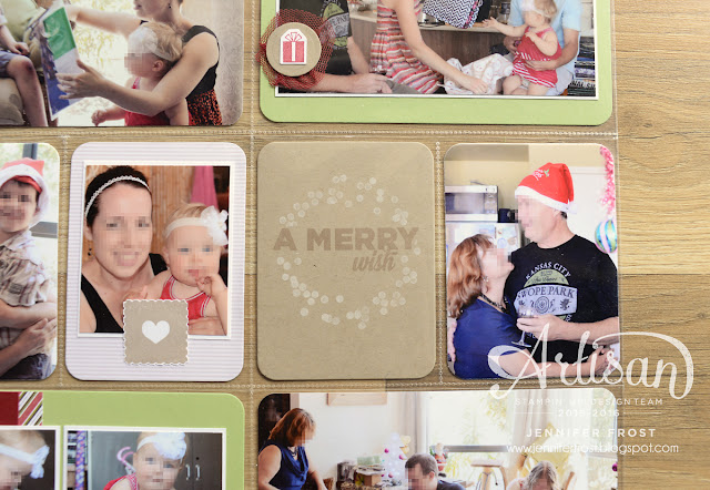 A Merry Wish Scrapbook layout, Christmas, Papercraft by Jennifer Frost, Wondrous Wreath, Letters to Santa DSP, Stampin' Up! Classes Bendigo
