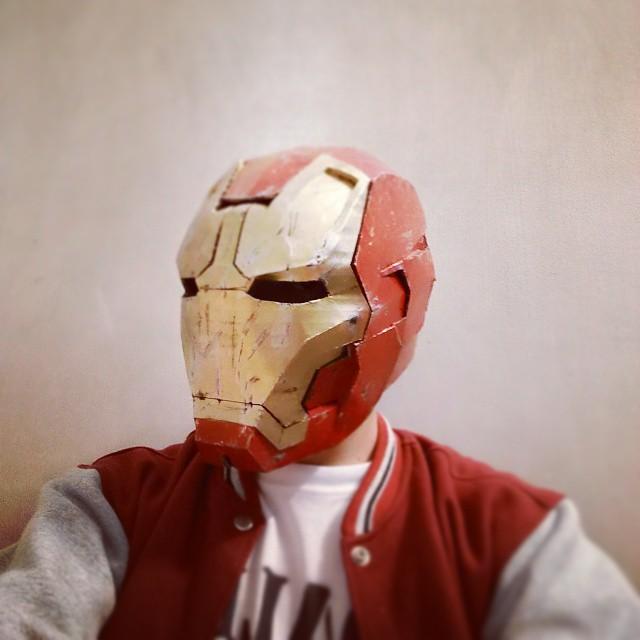 Dali-Lomo Iron Man Mark 42 Costume Helmet DIY - Cardboard build