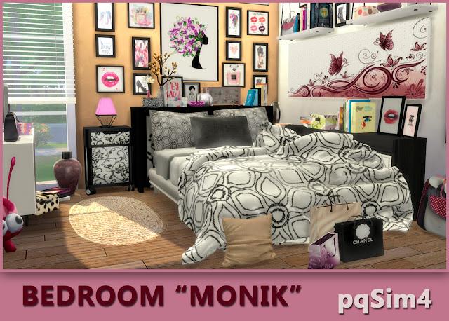 Bedroom Monik. Sims 4 CC download.