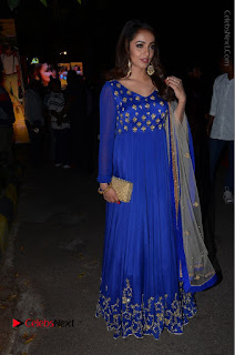 Telugu Actress Tejaswi Madivada Pos in Blue Long Dress at Nanna Nenu Na Boyfriends Audio Launch  0114.JPG