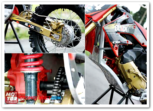 Skutik Trail Hasil Modifikasi Honda BeAT dari Malang