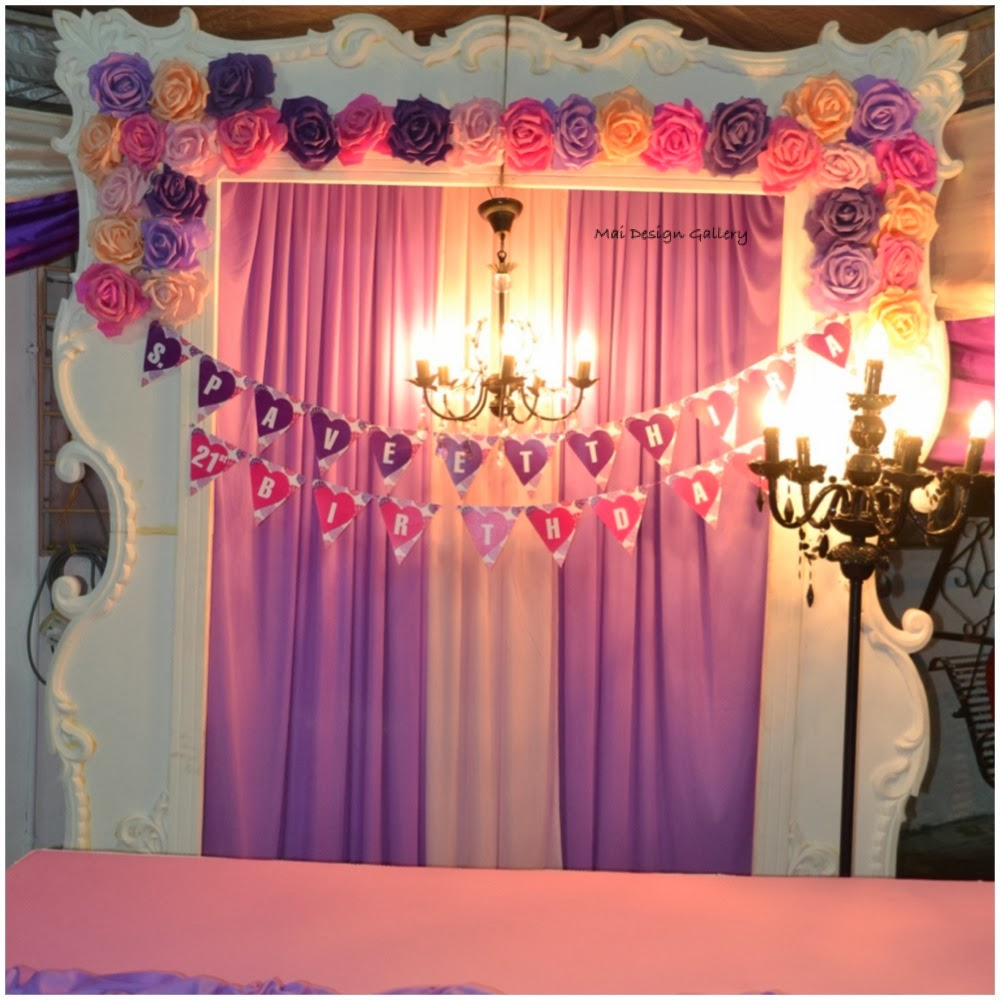 mai design gallery backdrop birthday party for thira