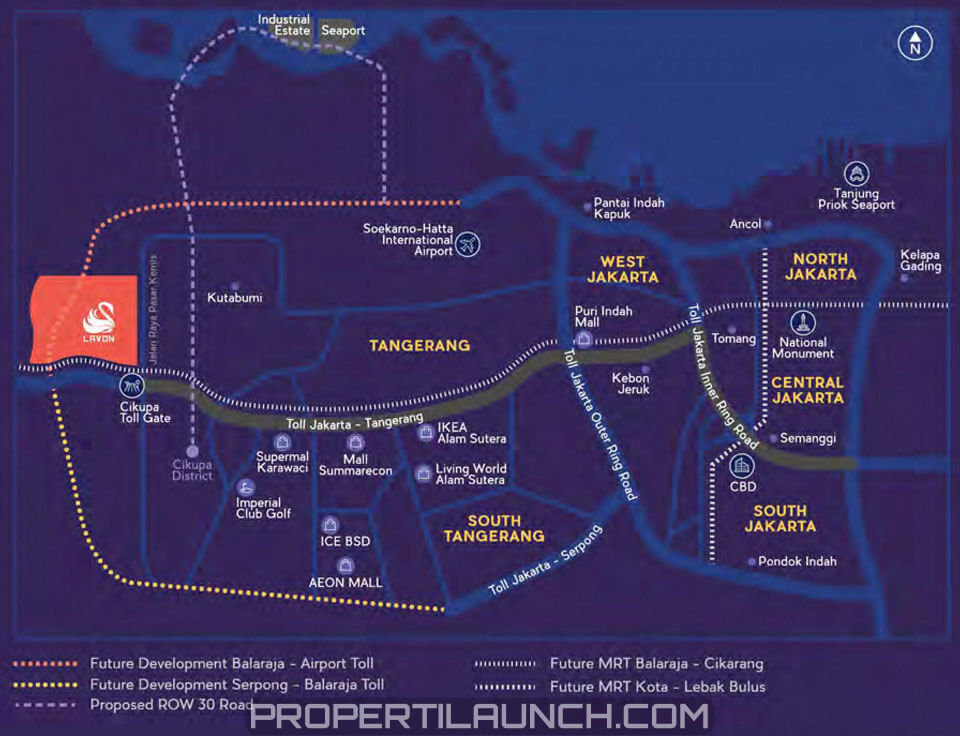 Peta Lokasi LAVON Cikupa