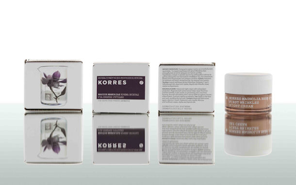 Korres Face, Magnolia Bark Frist Wrinkle Night Cream