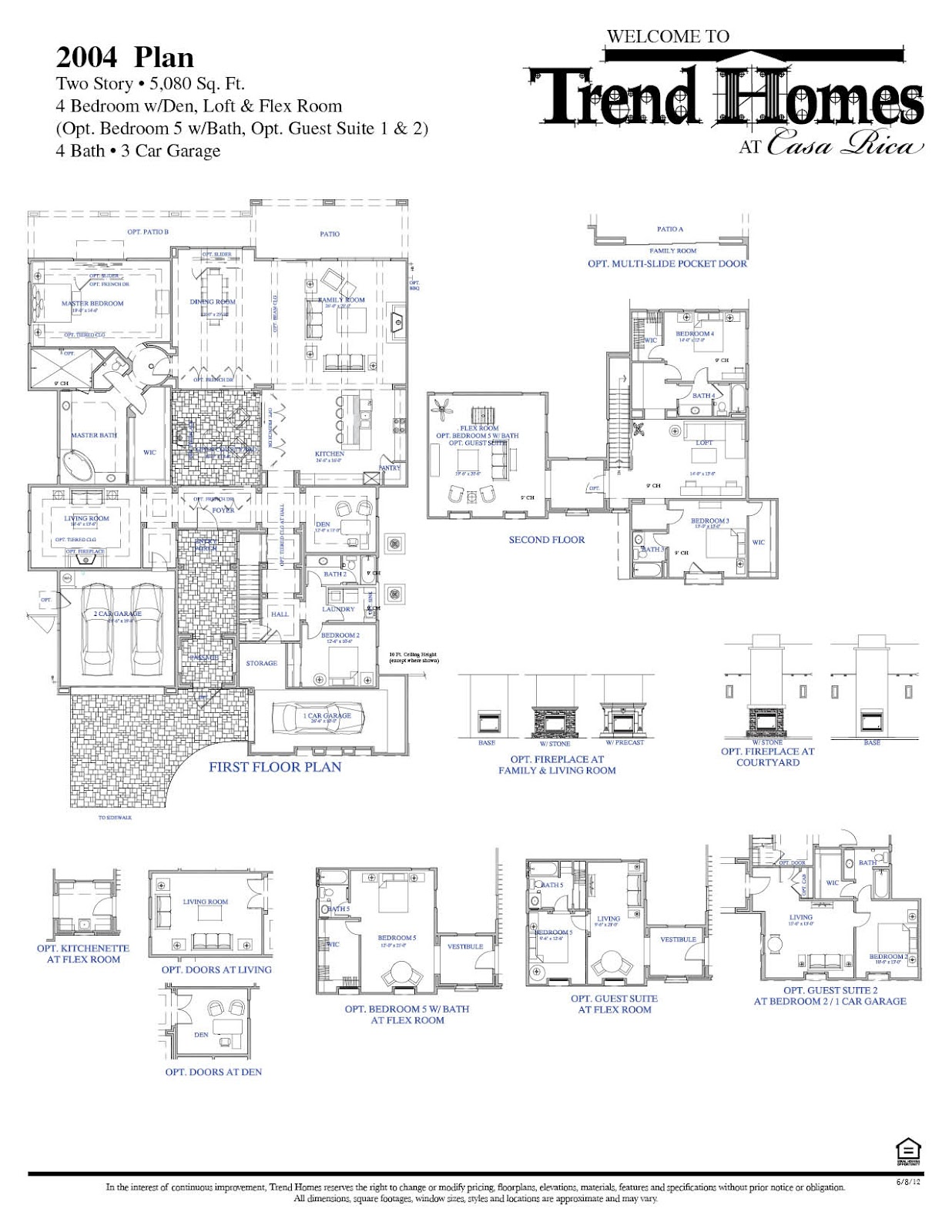 Homes For Sale at Casa Rica in Gilbert – Trend Homes Floor Plans