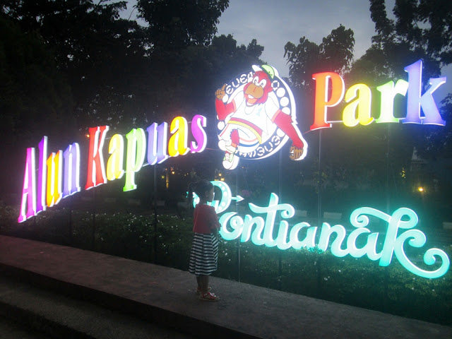 Wisata Sungai Kapuas Pontianak di Taman Alun Kapuas