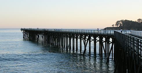 san simeon pier california coast