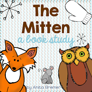 Book study companion to go with The Mitten by Jan Brett- perfect for Kindergarten and First Grade!